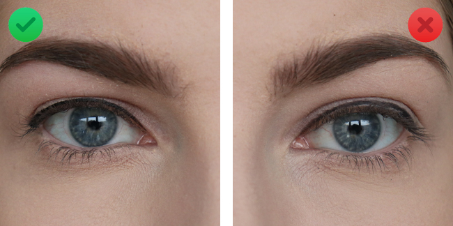 zwarte eyeliner