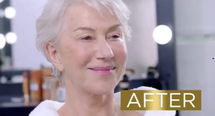 helen mirren age perfect loreal