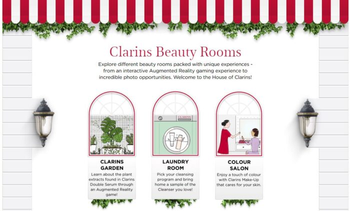 clarins beauty rooms