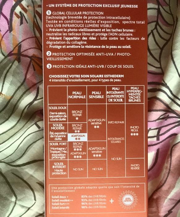 esthederm ingredienten