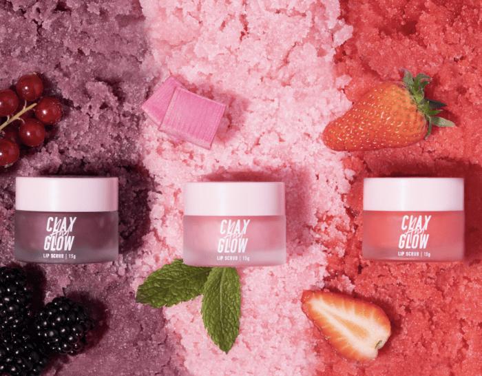 clay and glow lip scrub