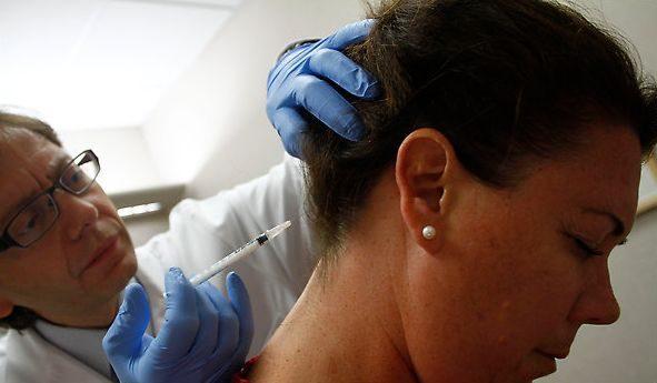 Botox injecties in de nek tegen migraine