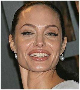 Glimmende huid bij Angelina Jolie