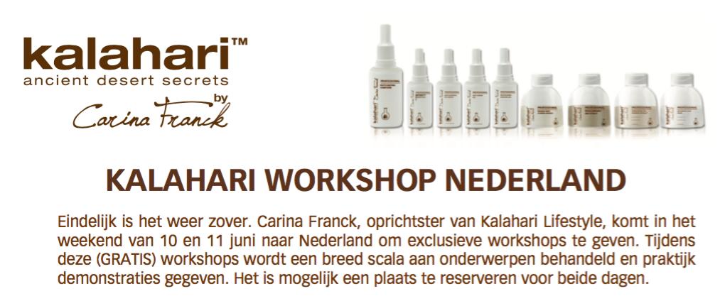 kalahari workshop uitnodiging