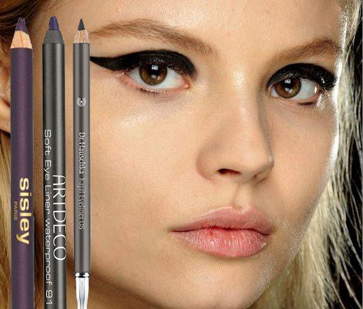 Anja test kohl/kajal pencils van Art Deco, Sisley, Dr. Hauschka