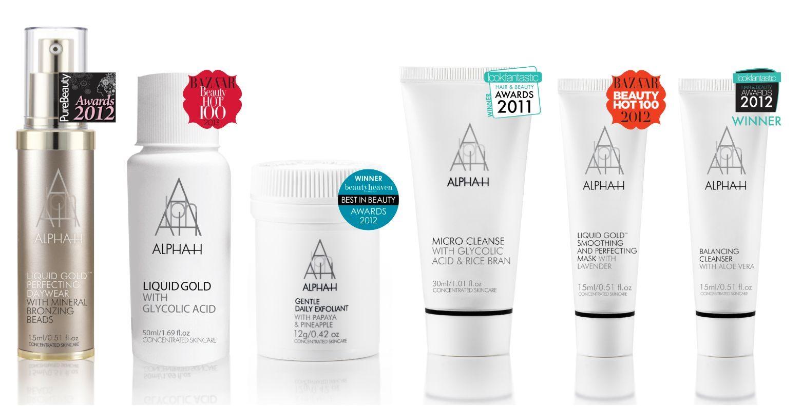 award winning producten alpha h