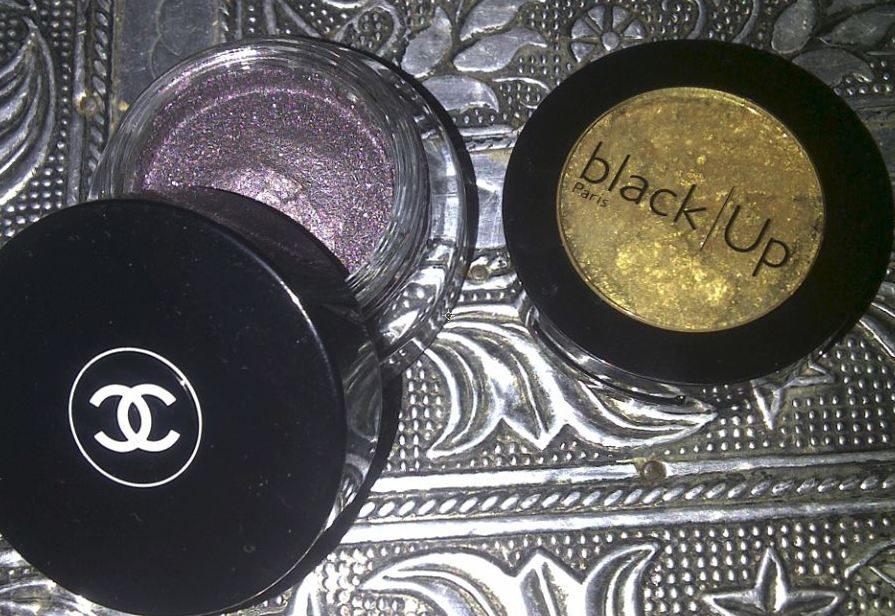 black up en chanel oogschaduw