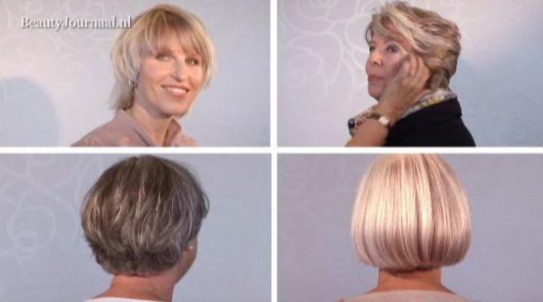screenshot modellen grijs haar gekleurd