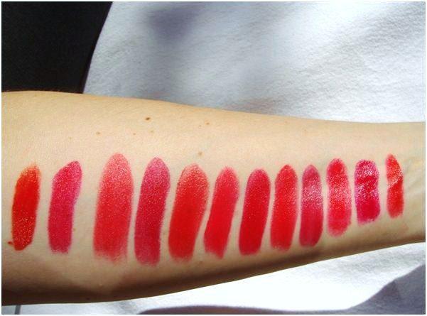 rode lipstick met direct licht